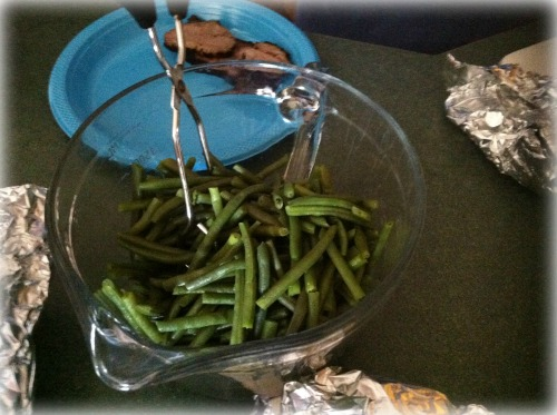 What's dinner in the Ozarks without garden green beans?
