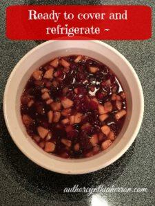 Cinnamon apple cranberry sauce authorcynthiaherron.com