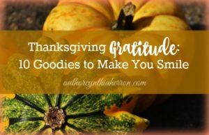 Thanksgiving Gratitude: 10 Goodies to Make You Smile authorcynthiaherron.com
